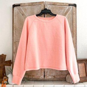 NWT MADEWELL Fleece Pink Sweatshirt Sweater